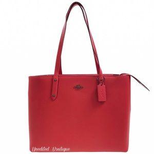 COACH Tote Handbag With Zip, Red Apple